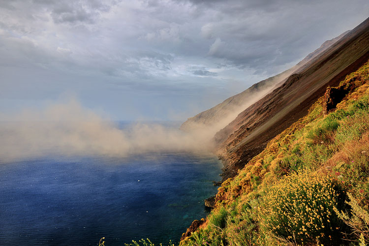 Stromboli Vulcano from Ginostra view