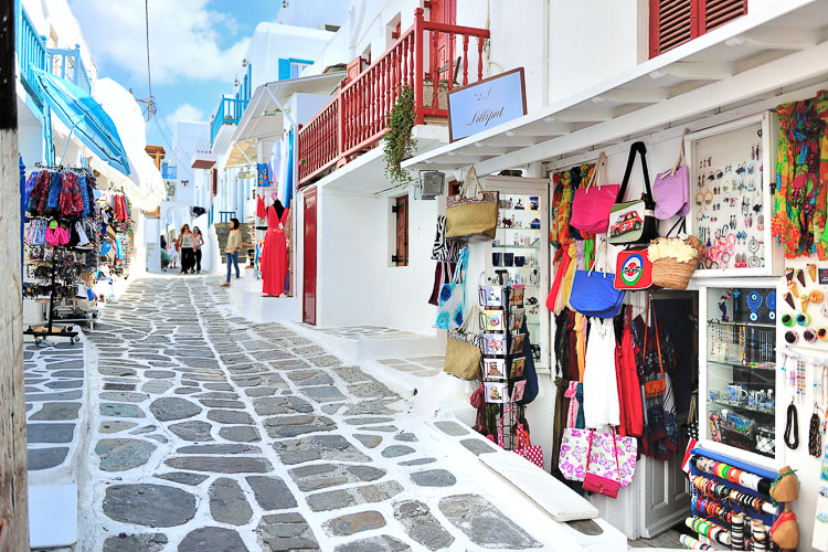 mykonos town, travel, greece, party, shopping, cruises