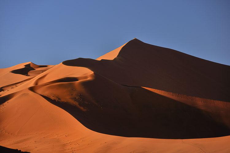 The sand dunes of Sossusvlei in the Namib Desert