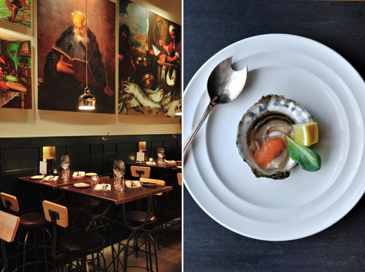 restaurant Mr.Pee (left) / oysters @ Feskekorka (right)