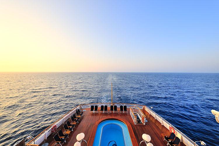 Sunrise at sea - Seadream II
