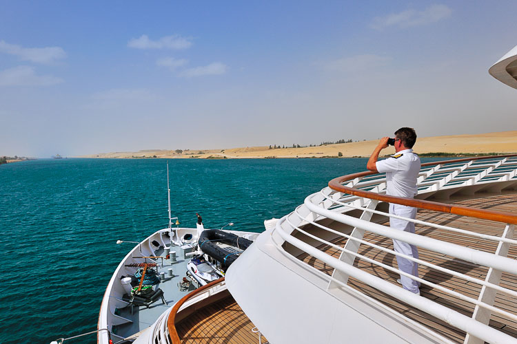 Crossing the Suez Channel - Seadream II