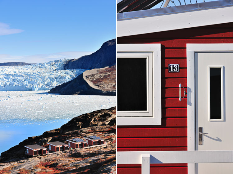Eqi Lodge at Eqi Sermia Glacier - Greenland