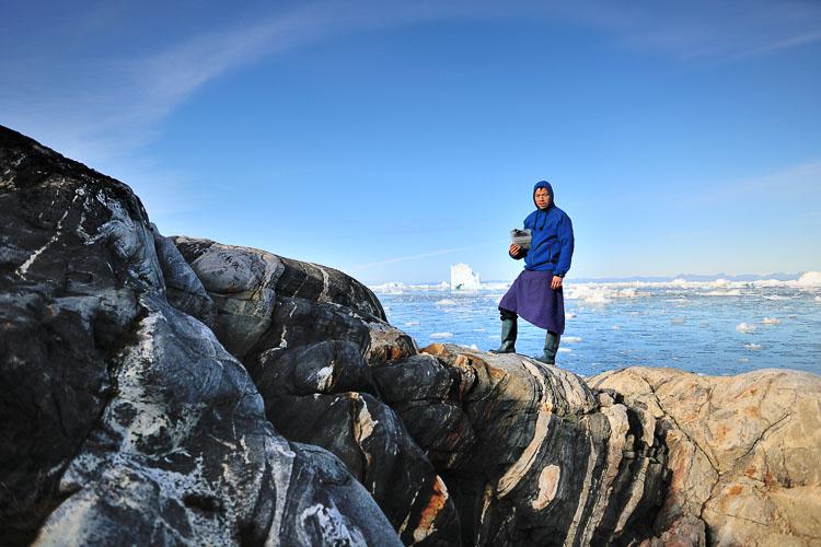 Chef Inunnguaq Hegelund foraging in Ilulissat, Greenland