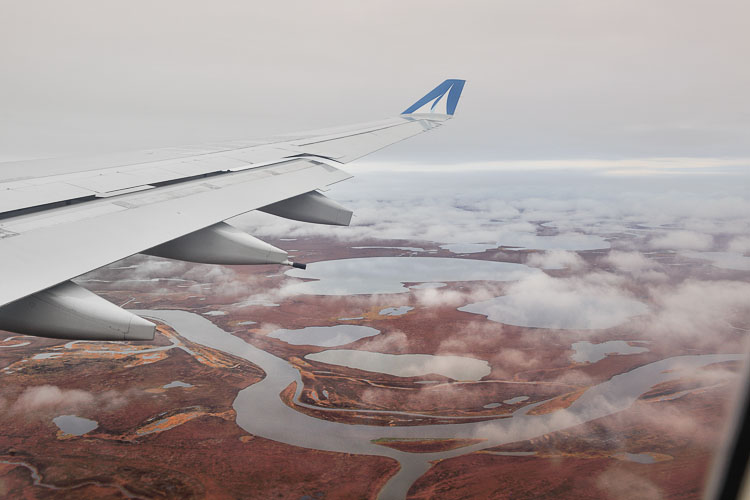 Flying to Russia's extreme east, Anadyr - Kamchatka